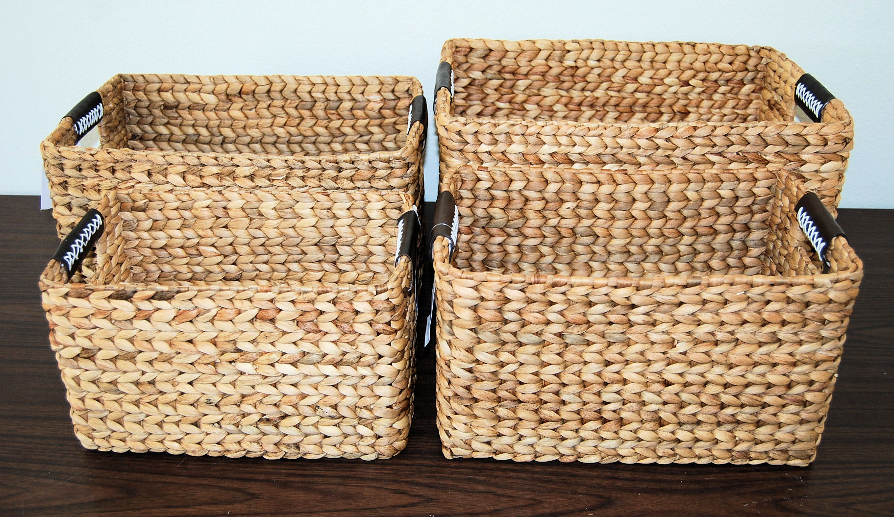 Attrayant C351241010044. Set Of 4 Natural Kipas Rectangular Storage Baskets ...